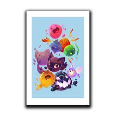 Slimes on the Range print Video Game Show, Undertale Cosplay, Slime For Kids, Cute Art, Ladybug, Nerd, My Arts, Fan Art, Cartoon