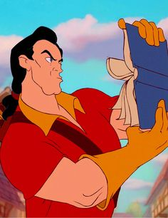 No one looks at books like Gaston: Beauty and the Beast