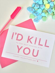 Funny Free Printable Valentine's Day Cards!  http://www.weddingchicks.com/2015/02/02/frienemy-valentines-day-cards/