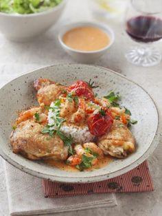 poivre, huile, homard, bouquet garni, concentré de tomate, poulet, écrevisse, sel, vin blanc, cognac