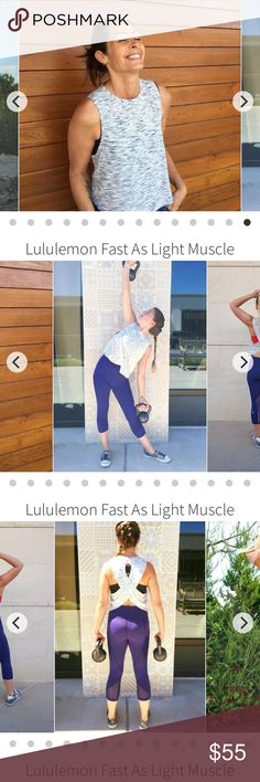 NWT Fast as light muscle tank size 6 lululemon Gorgeous tank lululemon athletica Tops Tank Tops