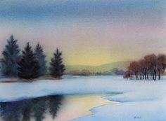 Water Landscape Paintings | Adirondack Art, Oil and Watercolor Landscapes, Plein Air Paintings