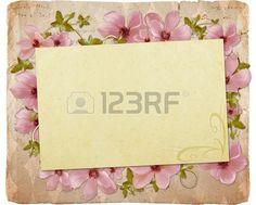 Biglietto di auguri con fiori e spazio per il proprio testo Archivio Fotografico
