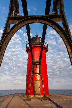 South Haven, Michigan's South Pierhead Lighthouse