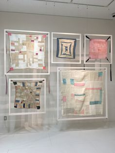 "I like how these are displayed, suspended inside the whiteframes. How are the frames supported or suspended? ""Yui Usui -shadow work-"" Koyama City"