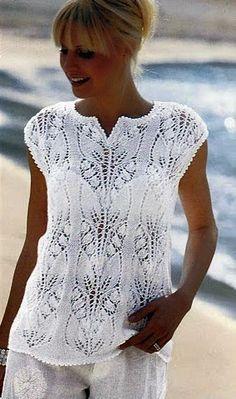 Ivelise Feito à Mão: Blusa Maravilhosa De Tricô