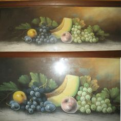 *SOLD* ANTIQUE ORIGINAL ANDREW GUNDERSON SIGNED PASTEL Chalk FINE ART PAINTING FRUITS  ... $1 SORRY SOLD ... we sell more OLD VINTAGE PASTEL PAINTINGS, ARTS, HOME DECORATIONS at http://www.TropicalFeel.com