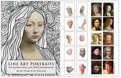 Line Art Portrait Preview