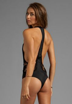 e1c849a7a Indah Pagoda Crochet MC One Piece in Black  162.00 only size xs and l left  Monokini