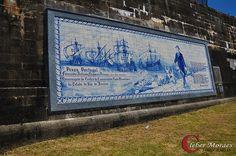 Azulejos em homenagem a Fernando Pessoa Fortes - Niterói - RJ - Brasil