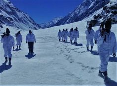 #ITBP personnel in upper reaches of #Himalayas somewhere in Uttarakhand #Himveers