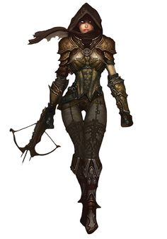 View an image titled 'Demon Hunter Female Art' in our Diablo III art gallery featuring official character designs, concept art, and promo pictures. Fantasy Female Warrior, Fantasy Armor, Fantasy Women, Female Art, Dark Fantasy, Fantasy Girl, Female Character Design, Character Art, Character Reference