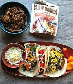 Slow Cooker Mexican Red Chili Tacos - an easy crockpot recipe