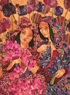 +  Katrina Pallon, Purple Flowers for Felisa (Watercolor on paper)