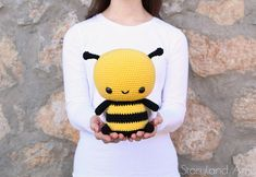 ***PLEASE NOTE: This is a digital crochet PATTERN, NOT a finished item*** Meet Burt the Bee! Burt's favorite thing to do is buzz around from flower to flower collecting pollen to make his favorite food of all—honey! But he can't fly too far with his small wings, so he would love to