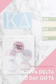 Create the perfect Bid Day gift pack for your Kappa Delta new members! Choose from three gift bag options: Newbie Love, Pref Present or Spoiled. Kappa Delta Gifts | Kappa Delta Bid Day | KD New Member Gifts | KayDee Rush Gift Bags | Kappa Delta Recruitment | Sorority Bid Day | Sorority Recruitment | Bid Day Bags | Sorority New Member Gift Ideas #BidDayGifts #SororityRecruitment Sorority Bid Day, Sorority Recruitment, Bid Day Gifts, Normal School, Bid Day Themes, Kappa Delta, Day Bag, Gift Bags, Presents