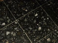 Black Terrazzo Floor - seamless would be better.