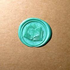 Open book seal stamp orignal designed by me. It is make to order metal seal stamp, could add custom letters ont. Materials: Metal stamp with wood Christian Books For Men, Book Background, Finding A Hobby, Stationery Craft, Wax Seal Stamp, Custom Stamps, Open Book, Learn To Paint, Stamp Book