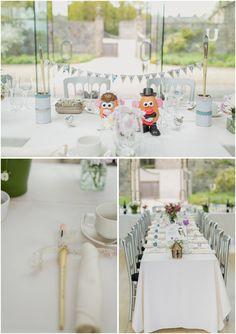 Utopia Wedding - Broughton Hall - Skipton - North Yorkshire Wedding - Quirky Wedding- Paul Joseph Photography - Details - Wild Flowers - Mr and Mrs Potato Headwww.pauljosephphotography.co.uk