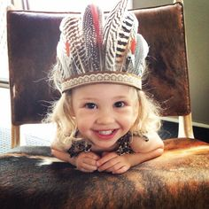 Baby Alala Feather Headband Headpiece feather by addaxfeathers