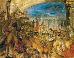 Max Slevogt - Der Untergang von Ninive und Sardanapals Tod
