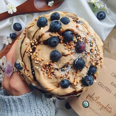 Oh nicecream I have missed you! Just 4 frozen bananas and a tablespoon of @philosophielove Cacao Magic  uh the ingredients in this are fascinating #philosophiesuperfoods  Topped with blueberries,...