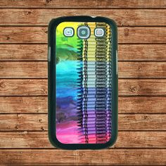Samsung Galaxy S3 case--Melting Crayola Crayons,in plastic hard case,black or white or clear color by tomes8899, $14.99