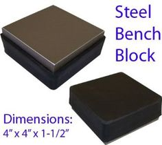 "2 In 1 Stainless STEEL RUBBER Metal Bench Block by toolusa. $19.72. TJ-9804R : 2 In 1 Steel Block  4.25"" X 4.5""x 1.25"" (approx) : : ()This Block Is Solid Steel, With One Side Covered With Rubber, For A Hard, Yet Non Scratching Surface. Block Is Solid, And Weight 4 Lbs, 3.7 Oz., And Comes In A Woven Box.. Save 23%!"