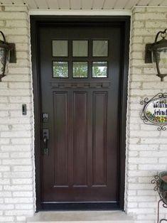 Country Front Door, Garage Ideas, Tall Cabinet Storage, Garage Doors, Exterior, Windows, Outdoor Decor, Home, Entry Doors