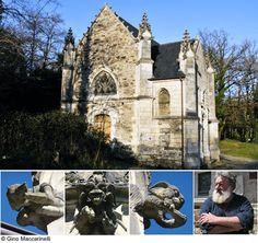 Chapelle de Bethleem in western France has Gremlins and Aliens characters for gargoyles!