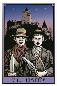 VIII. Justice - The Vampire Tarot by Robert M. Place