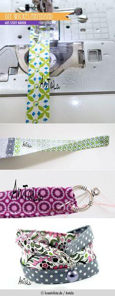 #DIY #Wickelarmband aus Stoff #bracelet auf www.kreativliste.de