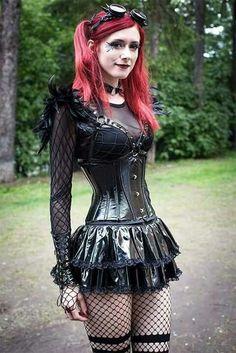 Love the Goth ensemble on this babe