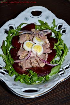 Salata de ton cu sfecla rosie - CAIETUL CU RETETE Ramen, Japanese, Ethnic Recipes, Food, Salads, Japanese Language, Essen, Meals, Yemek