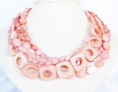 salmon pink mother of pearl