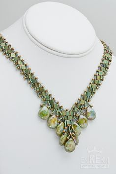 Czech 16x12 mm Pear Shaped Drops Necklace , Jewelry | Eureka Crystal Beads  Art deco style jewelry