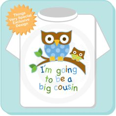 Big+Cousin+Shirt+I'm+going+to+Be+a+Big+Cousin+by+ThingsVerySpecial,+$14.99 .. for kami (: