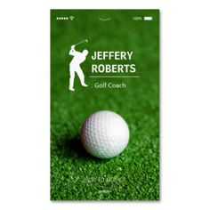 Shop Creative Golfer Golf Coach Business Card created by CardHunter. Custom Business Cards, Golf Ball, Smudging, Paper Texture, Things To Come, Writing, Feelings, Creative, Prints