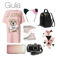 """""""DejaVu"""" by giuliaaq on Polyvore featuring Moschino, Madewell, Kate Spade and Gucci"""