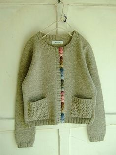 cute use of pom poms | Knit