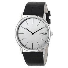 Skagen Men's Black Leather Strap Watch