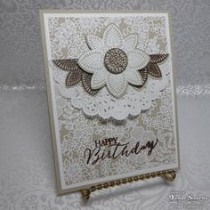 Something Lacy background stamp & Petal Potpourri stamp set avail. 1/6/2015-6/2/2015, occasions catalog.