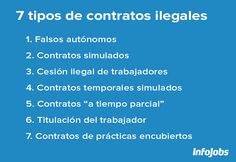 Contratos ilegales y cómo identificarlos. En @InfoJobs