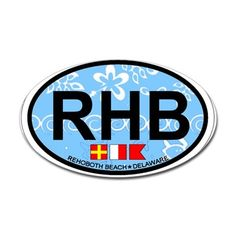 Rehoboth Beach DE - Oval Design Decal on CafePress.com