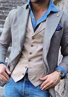 Casual style by Mode Masculine, Stylish Men, Men Casual, Herren Outfit, Inspiration Mode, Men's Wardrobe, Mens Fashion Suits, Men's Fashion, Gentleman Style