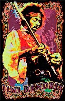 Hendrix Black Light Poster