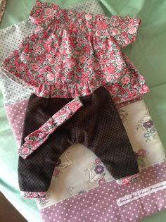 Ensemble chemise et pantalon, bandeau home made pour poupon corolle 30 cm à voir chez Brindille Aux Pommes