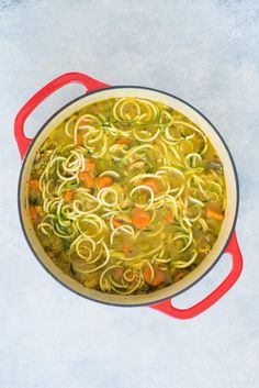 Stay ahead of the game during cold and flu season with this Anti-Inflammatory Turmeric Chicken Zoodle Soup. It is paleo-friendly, Whole . Fish Recipes, Whole Food Recipes, Soup Recipes, Chicken Recipes, Cooking Recipes, Healthy Recipes, Healthy Food, Recipies, Zoodle Recipes