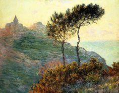 Claude Monet - L'Eglise de Varengeville à contrejour (Die Kirche von Varengeville im Gegenlicht)