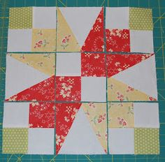 Garden Patch    This is one of my favorite blocks. I love the white space in the center. This block reminds me of tulips and spring. ...